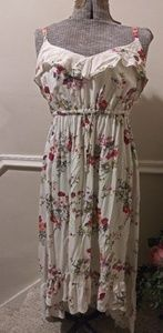 EUC Torrid White Floral High/Low Hem Sundress